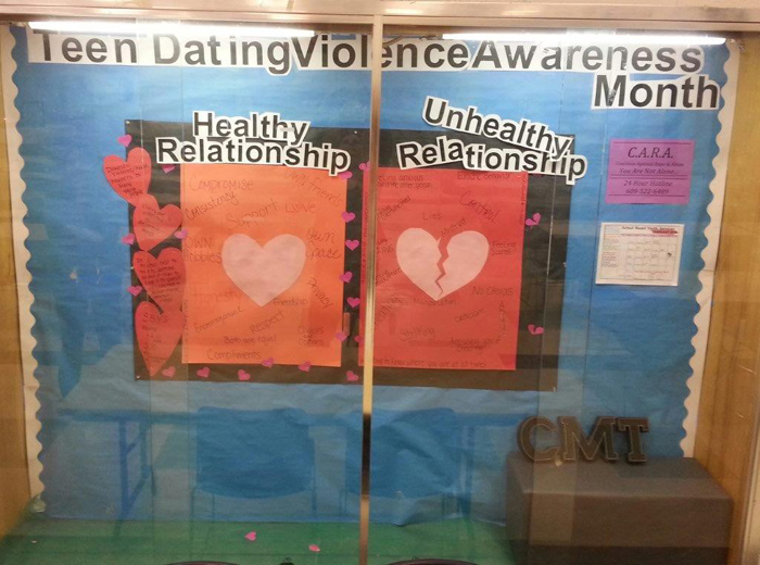 Votech Teen Dating Viloence Awareness Display